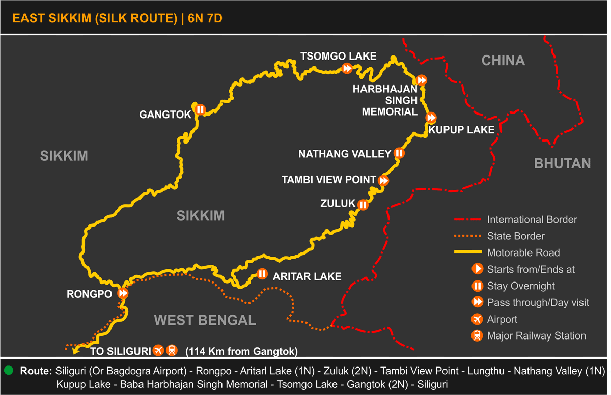 Sikkim Silk Route Tour Itinerary