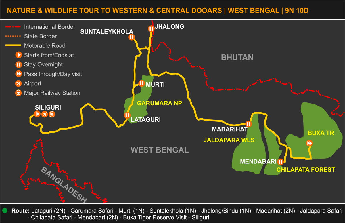 Western Central Dooars Tour Itinerary