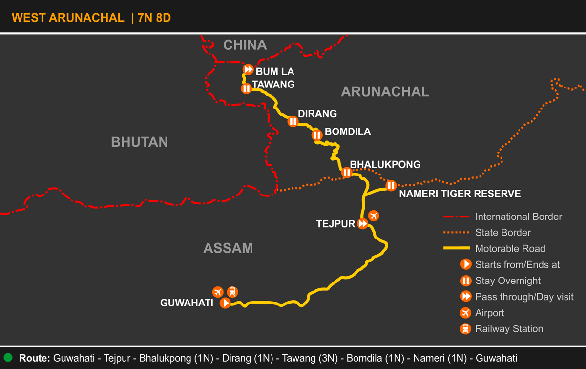 West Arunachal Tour Itinerary